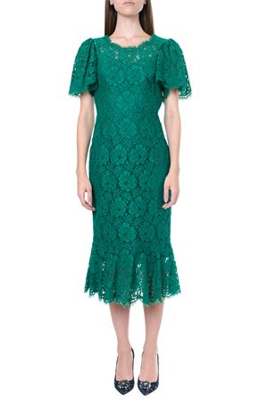 GREEN LACE MIDI DRESS FW 2019 DOLCE & GABBANA | 32 | F6F3NTFLM8ZV0403
