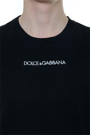 DOLCE & GABBANA BLACK COTTON T-SHIRT FW 2019 DOLCE & GABBANA | 15 | G8JM4ZFU7EQN0000
