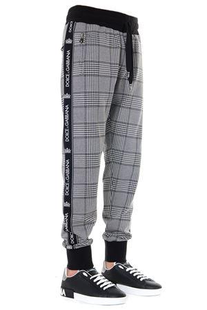 BLACK & WHITE CHECKED TRACK PANTS FW 2019 DOLCE & GABBANA | 8 | GYUVATFJGAMS8250