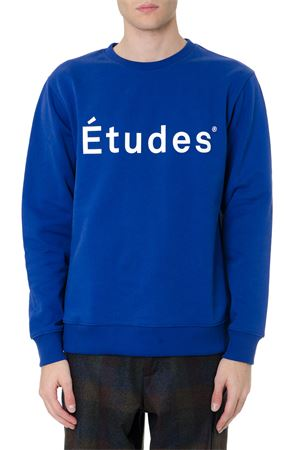 ELECTRIC BLUE COTTON LOGO SWEATSHIRT FW 2019 ÉTUDES | 19 | E14B-116-03STORY03