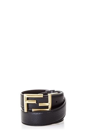 LOGO BUCKLE BLACK LEATHER BELT FW 2019 FENDI | 12 | 7C034470JF05TC