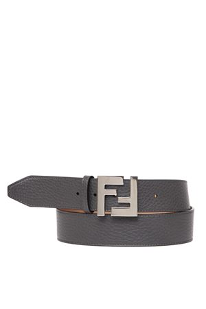 GREY LEATHER BELT WITH FF METAL BUCKLE FW 2019 FENDI | 12 | 7C0403SFRF0JGZ