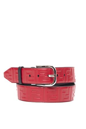STRAWBERRY COLOR LEATHER LOGO BELT FW 2019 FENDI | 12 | 7C0413A4K5F10FG