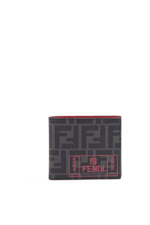 BLACK FF BILLFOLD WALLET WITH LOGO PRINT FW 2019 FENDI | 34 | 7M0169A7SBF0P0N