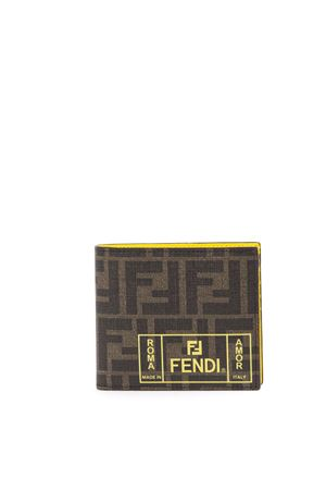 5c50b121014f89 BROWN AND YELLOW WALLET WITH MONOGRAM FW 2019 FENDI | 34 | 7M0169A7SBF17HW  ...