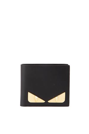 BAG BUGS MOTIF BLACK LEATHER WALLET FW 2019 FENDI | 34 | 7M0169SQPF0KUR