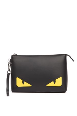 BLACK BAG BUGS LEATHER POUCH FW 2019 FENDI | 2 | 7N0102O73F17HQ