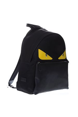 BAG BUGS BLACK & YELLOW LEATHER & NYLON BACKPACK FW 2019 FENDI | 183 | 7VZ012A2FSF0R2A