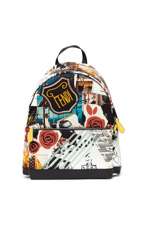 MULTICOLORED NYLON KARL KOLLAGE BACKPACK FW 2019 FENDI | 183 | 7VZ042A91MF0KQ9