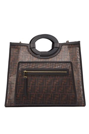 FF MONOGRAM BROWN MESH SHOPPER BAG FW 2019 FENDI | 2 | 8BH360A6D6F12PK