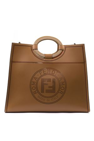 BROWN RUN AWAY LEATHER SHOPPER BAG FW 2019 FENDI | 2 | 8BH360A8SLF0TUD