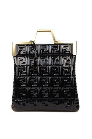 BLACK ALL OVER MONOGRAM VINYL BAG FW 2019 FENDI | 2 | 8BH362A9X4F0KUR