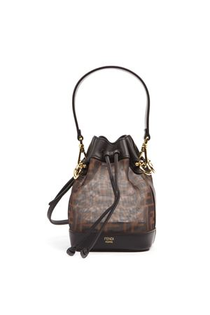 MINI BORSA MON TRESOR MARRONE IN RETE TECNICA AI 2019 FENDI | 2 | 8BS010A8HNF12PK