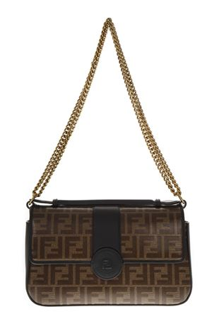 BORSA A MANO DOUBLE-FACE IN PELLE NERO E MARRONE AI 2019 FENDI | 2 | 8BT297A5MPF153A