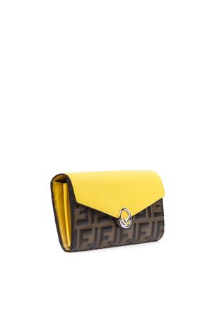 CONTINENTAL YELLOW AND BROWN LEATHER WALLET WITH MONOGRAM FW 2019 FENDI | 2 | 8M0251A6CBF19DA