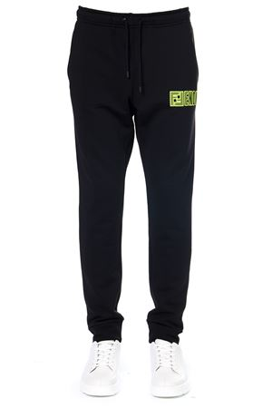 BLACK MIXED COTTON SPORT TROUSERS WITH LOGO PATCH FW 2019 FENDI | 8 | FAB515A8JYF17W0