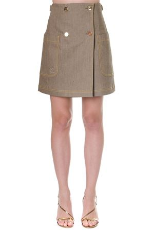 BEIGE COTTN HIGH WAISTED SKIRT FW 2019 FENDI | 26 | FLQ522A8GXF18DT