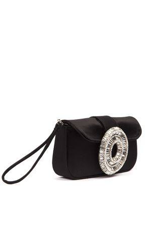 JINY EMBELLISHED BLACK SATIN CLUTCH FW 2019 GEDEBE | 2 | JINYRASONERO