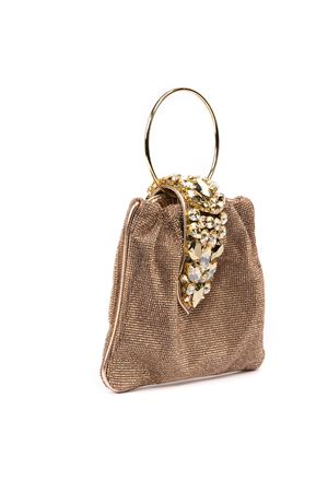 CRYSTAL POUCH PEACH GLITTER FABRIC BAG FW 2019 GEDEBE | 2 | SMALL CRYSTALPOUCH LIGHTPEACH