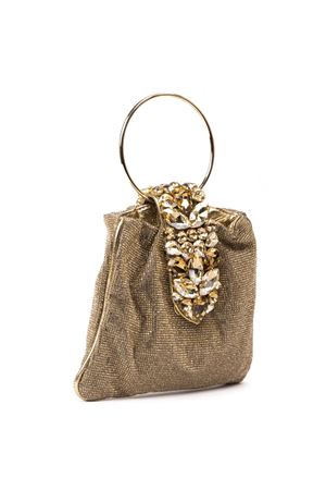 CRYSTAL POUCH GOLD GLITTER FABRIC BAG FW 2019 GEDEBE | 2 | SMALL CRYSTALPOUCH LIGHTTOPAZ