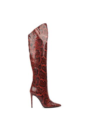 RED HIGH PYTHON LEATHER BOOTS FW 2019 GIULIANO GALIANO | 52 | 119-ELISE5/100174ROSSO