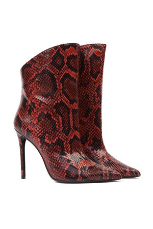 VANITY 110 RED PYTHON LEATHER ANKLE BOOTS FW 2019 GIULIANO GALIANO | 52 | 119-ELISE5/100175ROSSO