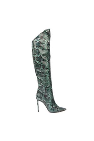 RED HIGH PYTHON LEATHER BOOTS FW 2019 GIULIANO GALIANO | 52 | 119-ELISE5/100174VERDE