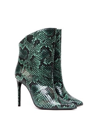 VANITY 110 GREEN PYTHON LEATHER ANKLE BOOTS FW 2019 GIULIANO GALIANO   52   119-ELISE5/100175VERDE