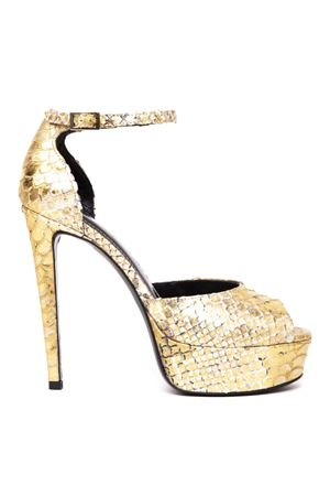 GOLD PYTHON LEATHER SANDAL FW 2019 GIULIANO GALIANO | 87 | 119-ELLE1PITONEORO