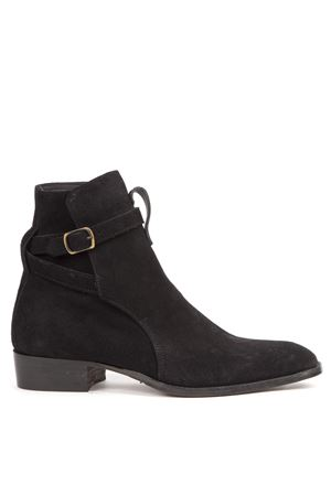 BLACK FLASH HIGH TOP SUEDE ANKLE BOOTS FW 2019 GIULIANO GALIANO | 52 | 3126NCCNERO