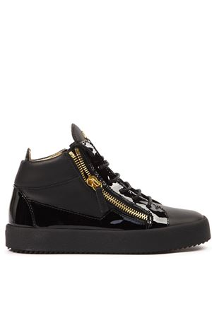 BLACK LEATHER KRISS HI-TOP SNEAKERS FW 2019 GIUSEPPE ZANOTTI | 55 | RW70009LOGOBALL009