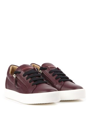 BURGUNDY LEATHER ADDY SNEAKERS FW 2019 GIUSEPPE ZANOTTI | 55 | RW90011AREVENUS004