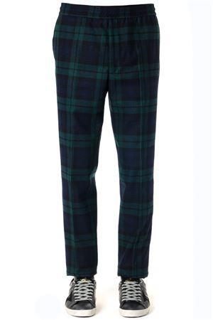 BLACK & GREEN WOOL TARTAN MOTIF STRAIGHT LEG PANTS FW 2019 GOLDEN GOOSE DELUXE BRAND | 8 | G35MP5111A2