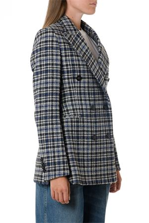 BLACK & NAVY WOOL CHECK JACKET FW 2019 GOLDEN GOOSE DELUXE BRAND | 14 | G35WP1921A3