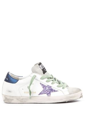 SNEAKERS SUPERSTAR BIANCHE E BLU IN PELLE AI 2019 GOLDEN GOOSE DELUXE BRAND | 55 | G35WS5901O74