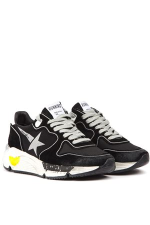 BLACK LEATHER & NYLON RUNNING SNEAKER FW 2019 GOLDEN GOOSE DELUXE BRAND | 55 | G35WS9631A2