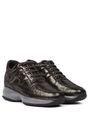 SILVER SNAKE PRINTED LEATHER INTERACTIVE SNEAKERS FW 2019 HOGAN | 55 | HXW00N00010SHMB401