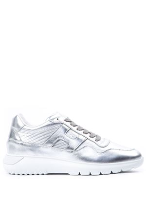 INTERACTIVE METALLIC SILVER LEATHER SNEAKERS FW 2019 HOGAN | 55 | HXW3710AP20JZMB200
