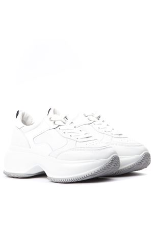 I ACTIVE WHITE LEATHER SNEAKERS FW 2019 HOGAN | 55 | HXW4350BN51LMGB001