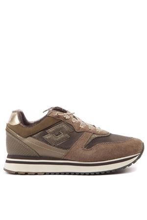 SNEAKER SLICE W MARRONE IN CAMOSCIO E NYLON AI 2019 LOTTO LEGGENDA | 55 | 213087SLICESAND/CUBAN