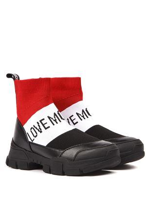 LOVE MOSCHINO RED & BLACK ELASTIC SOCKS ANKLE BOOTSFW 2019 LOVE MOSCHINO | 52 | JA15614G08JT0UNI00A