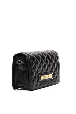BLACK QUILTED FAUX LEATHER BAG FW 2019 LOVE MOSCHINO | 2 | JC4002PP18LAUNI0000