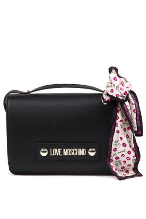 d9afd8388865b9 BORSA A TRACOLLA NERA CON LOGO AI 2019 - LOVE MOSCHINO - Boutique ...