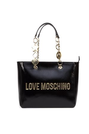 BLACK FAUX LEATHER LOGO LETTERING BAG FW 2019 LOVE MOSCHINO | 2 | JC4037PP18LD0UNI000