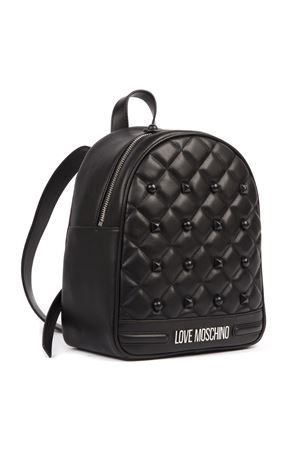 BLACK QUILTED PVC BACKPACK FW 2019 LOVE MOSCHINO | 2 | JC4063PP18LH0UNI000