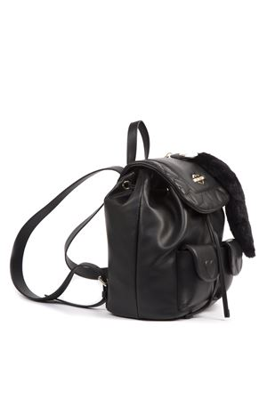 MINI BLACK QUILTED PVC BACKPACK WITH PENDANT FW 2019 LOVE MOSCHINO | 2 | JC4087PP18LO0UNI000