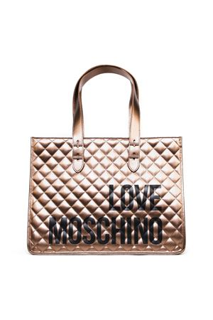 BRONZE COLOR FAUX LEATHER BAG FW 2019 LOVE MOSCHINO | 2 | JC4210PP08KBUNI0904