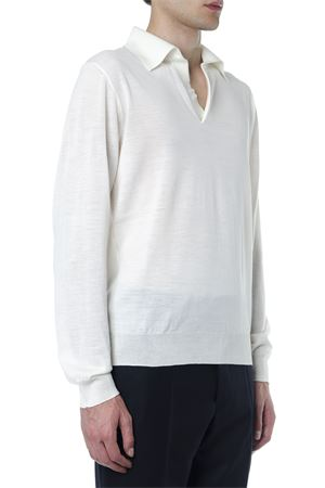 WHITE WOOL SWEATER WITH CLASSIC COLLAR FW 2019 MAISON MARGIELA | 16 | S50GL003S16789100