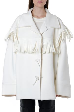 WOOL BLEND WHITE FRINGED COAT FW 2019 MAISON MARGIELA | 31 | S51AM0346S52162101