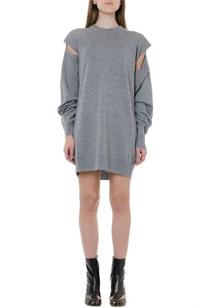 GREY WOOL AND CASHMERE DRESS WITH CUT OUT DETAILS FW 2019 MAISON MARGIELA | 32 | S51CU0104S16882850M